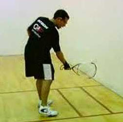 Practice using the Nick Lob serve